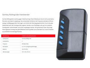 Sommer 5-Befehl Handsender Industry 4011V000 - Adams Tore & Antriebe - Sommer, Wisniowski, Hörmann Vertragshändler