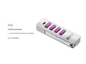 Sommer 4-Befehl Handsender Pearl Weiß/Pink 4018V003 - Adams Tore & Antriebe - Sommer, Wisniowski, Hörmann Vertragshändler