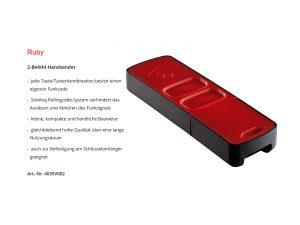 Sommer 2-Befehl Handsender Ruby 4035V002 - Adams Tore & Antriebe - Sommer, Wisniowski, Hörmann Vertragshändler