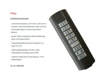 Sommer 30-Befehl Handsender Flexy mit Nummern- und Richtungstasten 4080V000 - Adams Tore & Antriebe - Sommer, Wisniowski, Hörmann Vertragshändler
