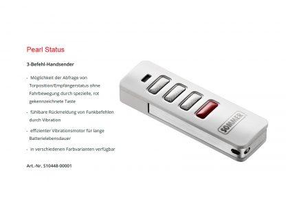 Sommer 3-Befehl Handsender Pearl Status S10448-00001 - Adams Tore & Antriebe - Sommer, Wisniowski, Hörmann Vertragshändler