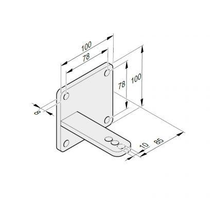 Sommer Torpfostenbeschlag 85/104 L + R 32063V001 - Adams Tore & Antriebe - Sommer, Wisniowski, Hörmann Vertragshändler