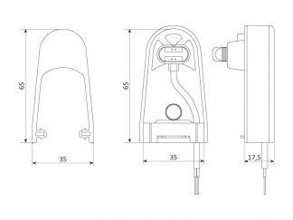 Sommer Sicherheitskontaktleiste elektrisch 8,2 kOhm (H 65 mm) 5133V000 - Adams Tore & Antriebe - Sommer, Wisniowski, Hörmann Vertragshändler