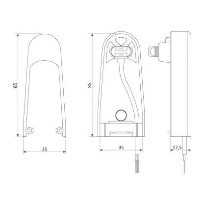 Sommer Sicherheitskontaktleiste elektrisch 8,2 kOhm (H 85 mm) 5134V000 - Adams Tore & Antriebe - Sommer, Wisniowski, Hörmann Vertragshändler