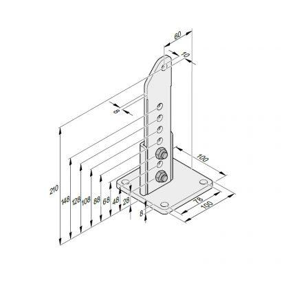 Sommer Torpfostenbeschlag 60/210 L S10751-00001 - Adams Tore & Antriebe - Sommer, Wisniowski, Hörmann Vertragshändler