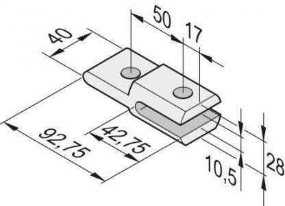 Sommer Torpfostenanbindung 14525V000 - Adams Tore & Antriebe - Sommer, Wisniowski, Hörmann Vertragshändler