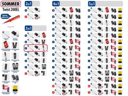 Sommer Twist 200el Drehtorantrieb 1-flüglig Set 3in1C - Adams Tore & Antriebe - Sommer, Wisniowski, Hörmann Vertragshändler