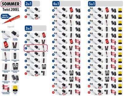 Sommer Twist 200el Drehtorantrieb 2-flüglig Set 3in1C - Adams Tore & Antriebe - Sommer, Wisniowski, Hörmann Vertragshändler