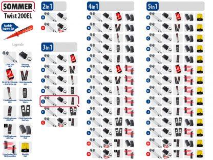 Sommer Twist 200el Drehtorantrieb 2-flüglig Set 3in1E - Adams Tore & Antriebe - Sommer, Wisniowski, Hörmann Vertragshändler
