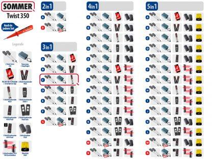 Sommer Twist 350 Drehtorantrieb 2-flüglig Set 3in1C - Adams Tore & Antriebe - Sommer, Wisniowski, Hörmann Vertragshändler