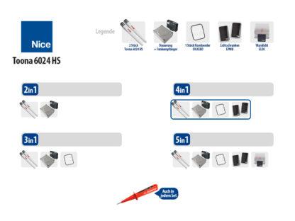 Nice TOONA 6024HS KIT Drehtorantrieb 2-flüglig Set 4in1 HI-SPEED - Adams Tore & Antriebe - Sommer, Wisniowski, Hörmann Vertragshändler