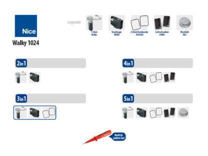 Nice WALKY 1024 KIT Drehtorantrieb 1-flüglig Set 3in1 - Adams Tore & Antriebe - Sommer, Wisniowski, Hörmann Vertragshändler