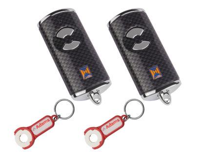2x Hörmann HSE2 BS Carbon 2-Befehl Handsender BiSecur 868 Mhz 436890 - Adams Tore & Antriebe - Sommer, Wisniowski, Hörmann Vertragshändler
