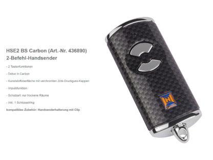 Hörmann HSE2 BS Carbon 2-Befehl Handsender BiSecur 868 Mhz 436890 - Adams Tore & Antriebe - Sommer, Wisniowski, Hörmann Vertragshändler
