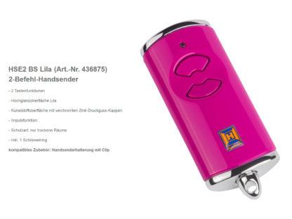 Hörmann HSE2 BS Lila 2-Befehl Handsender BiSecur 868 Mhz 436875 - Adams Tore & Antriebe - Sommer, Wisniowski, Hörmann Vertragshändler