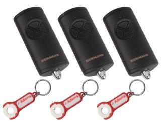 3x Hörmann HSE4 BS Schwarz Matt 4-Befehl Handsender BiSecur 868 Mhz 4511738 - Adams Tore & Antriebe - Sommer, Wisniowski, Hörmann Vertragshändler