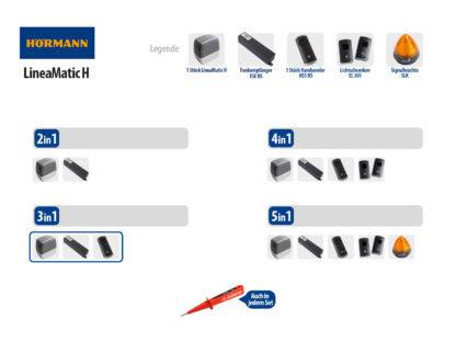 Hörmann LineaMatic H BiSecur Serie 3 Schiebetorantrieb 800kg Set 3in1 - Adams Tore & Antriebe - Sommer, Wisniowski, Hörmann Vertragshändler