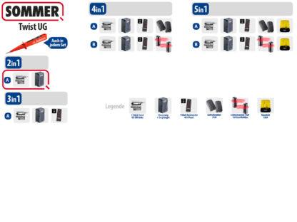 Sommer Twist UG Drehtorantrieb 1-flüglig Set 2in1A DIN Links Edelstahl - Adams Tore & Antriebe - Sommer, Wisniowski, Hörmann Vertragshändler