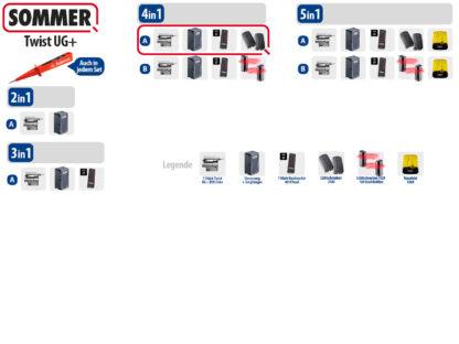 Sommer Twist UG+ Drehtorantrieb 1-flüglig Set 4in1A DIN Links Edelstahl - Adams Tore & Antriebe - Sommer, Wisniowski, Hörmann Vertragshändler