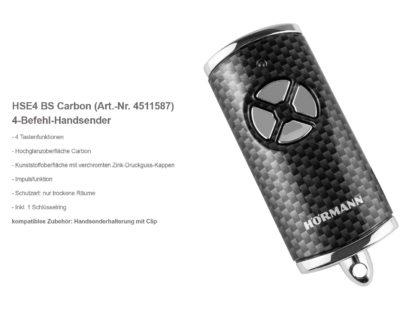 Hörmann HSE4 BS Carbon 4-Befehl Handsender BiSecur - Adams Tore & Antriebe - Sommer, Wisniowski, Hörmann Vertragshändler